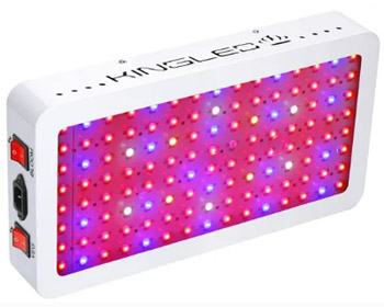 King Plus 1200w LED Grow Light Double Chips Full Spectrum with UV and IR