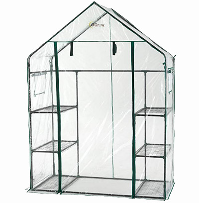oGrow Walk-in Greenhouse with Shelves